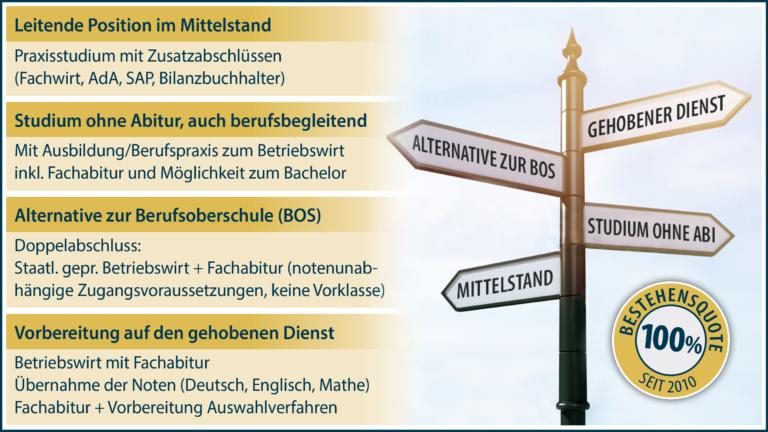 Karriereoptionen staatlich geprüfter Betriebswirt an der Mittelstandsakademie Bayern